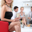 Woman at a cocktail party — Stock Photo #9068332