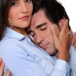 Embracing couple — Stock Photo #9069173