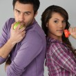Healthy young couple - Stock Photo