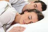 Couple sleeping together — Stock Photo