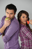 Healthy young couple — Stock Photo