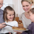 Family celebrating Chandeleur — Stock Photo #9154250