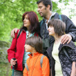 Family on hiking holiday — Stock Photo