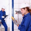 Electricians at work — Stock Photo #9155022