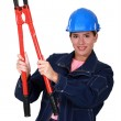 Wombuilder holding nippers — Stock Photo #9155330