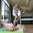Stock Photo: Senior couple staying in shape