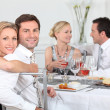 Stock Photo: Dinner party
