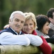 Two couples in the countryside — Stock Photo
