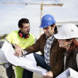 Team on construction site — Stock Photo