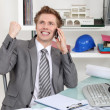 Architect rejoicing — Stock Photo