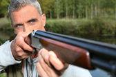 Hunter disparos — Foto de Stock