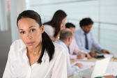 Woman in her office — Stock Photo