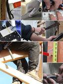 Snapshots describing duties of craftsmen — Stock Photo