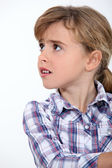 Little girl worried — Stock Photo