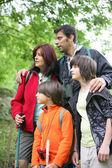 Family on hiking holiday — Stock Photo