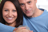 Closeup of a loving couple — Stock Photo