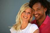 Portrait of an interracial couple — Stock Photo