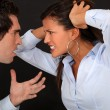 Stock Photo: Couple having fight.
