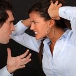 夫妻吵架 — 图库照片