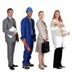 Profile photo of four professionals — Stock Photo