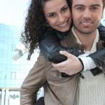 Happy couple outdoors — Stock Photo