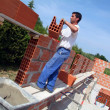 Stock Photo: Builder on site