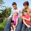 Family gathered in the garden — Stock Photo #9164925