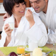 Stock Photo: Couple having breakfast
