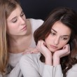 Woman consoling her friend — Stock Photo