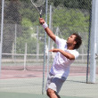 Tennis player in action — Stock Photo #9167873