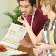 Young couple cooking together — Stock Photo #9168165