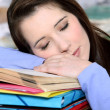 Sleepy student. — Stock Photo