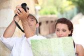 Couple of tourists — Stock Photo
