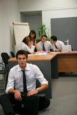 Businesspeople brainstorming — Stock Photo