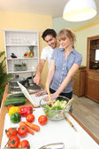 Duo in the kitchen — Stock Photo