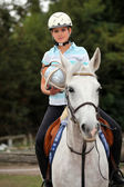 Portrait of a horseback rider — Stock Photo