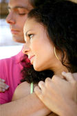 Young couple in a restful embrace — Stock Photo