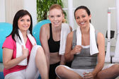 Young women in gym club — Stock Photo