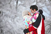 Couple embracing tenderly — Stock Photo