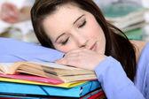 Sleepy student. — Stock Photo