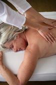 Woman having a massage — Stock Photo