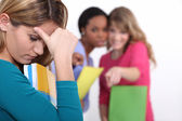 Female student being bullied — Stock Photo