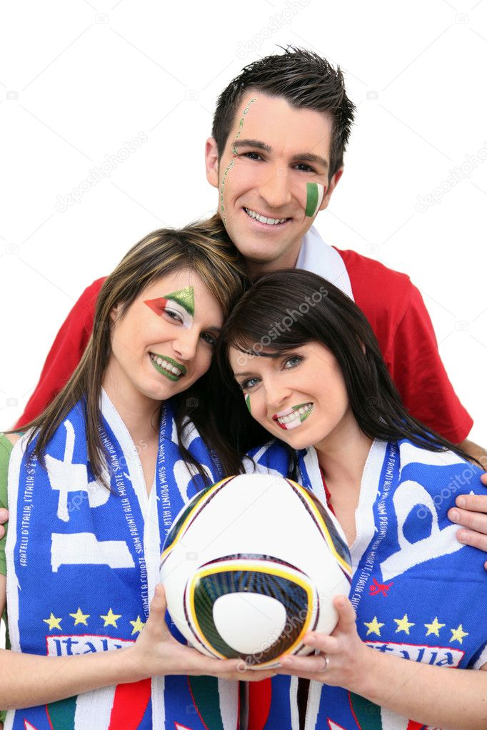 Italian football fans — Stock Photo #9160177