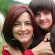 Mother and son embracing — Stock Photo