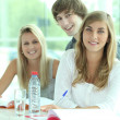 3 students — Stock Photo