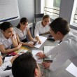 Stock Photo: Businesspeople on professional training