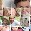 Stock Photo: Children, parents and grandparents