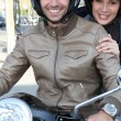 Stock Photo: Couple going on ride