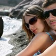 Couple stood by beach — Stock Photo #9172553