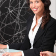 Stock Photo: Businesswoman in office